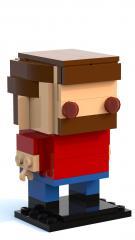 Slightly Disturbing Running Man Brickheadz
