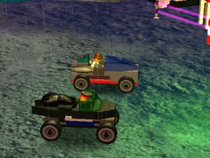 NPC's Driving Custom Built Cars