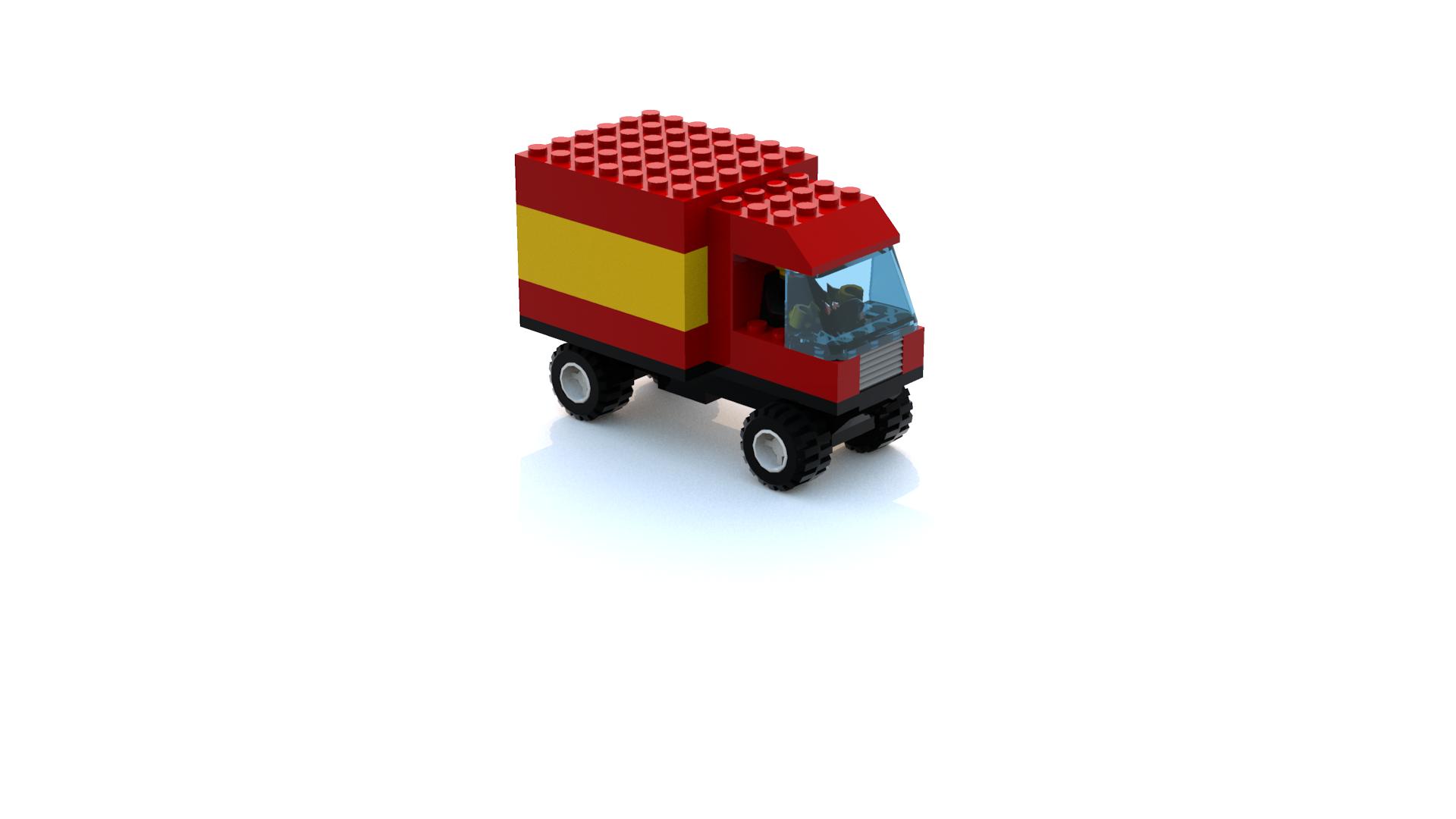 Lego Racers 2 Mike The Postman's Truck LDD Model