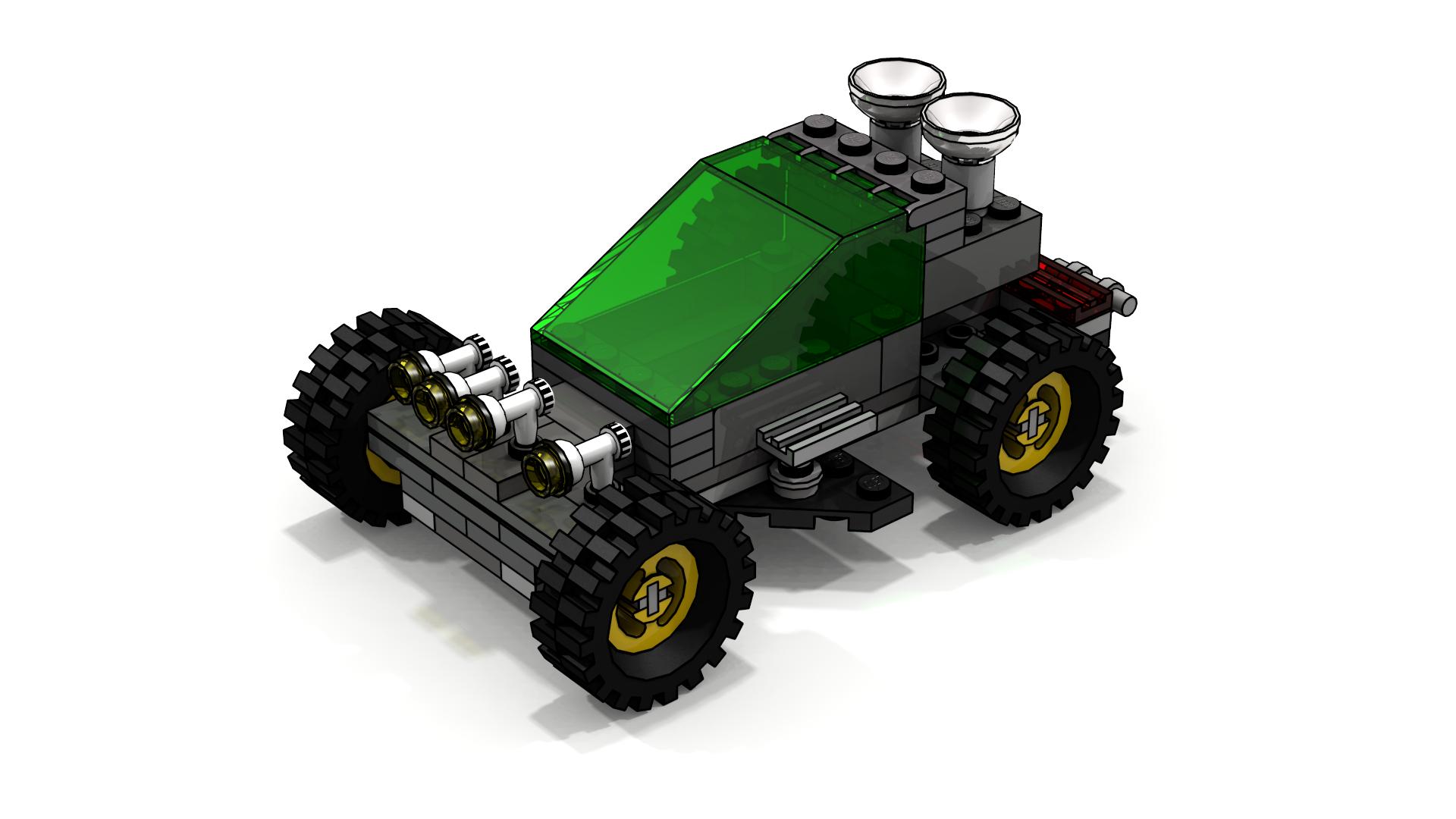 Lego Stunt Rally Mega Hurtz' Moon Buggy LDD Model