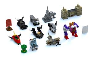 Lego Batman Hero Minikits LDD Model